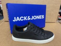 (NO VAT) 4 X BRAND NEW CHILDRENS JACK JONES BLACK TRAINERS SIZE 3