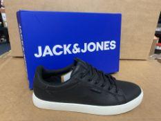 (NO VAT) 3 X BRAND NEW CHILDRENS JACK JONES BLACK TRAINERS SIZE 3