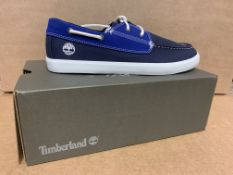 (NO VAT) 4 X BRAND NEW TIMBERLANDS NEWPORT BAY BLUE TRAINERS SIZE 6.5