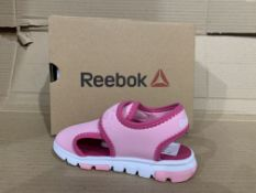 (NO VAT) 3 x NEW BOXED PAIRS OF REEBOK WAVE GLIDER III. SIZE INFANT 7