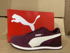 (NO VAT) 4 x NEW BOXED PAIRS OF PUMA SOFT FOAM+ PINK TRAINERS SIZE UK 4