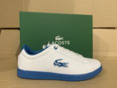 (NO VAT) 3 x NEW BOXED PAIRS OF LACOSTE CARNABY EVO TRAINERS SIZE UK 5
