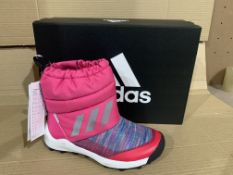 (NO VAT) 3 x NEW BOXED PAIRS OF ADIDAS RAPIDA BTW BOOTS SIZE UK 1