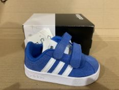 (NO VAT) 6 x NEW BOXED PAIRS OF ADIDAS VL COURT 2.0 CMF SIZE INFANT 3