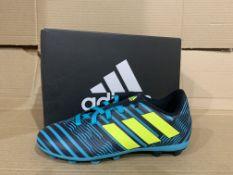 (NO VAT) 4 x NEW BOXED PAIRS OF ADIDAS NEMEZIZ 17.4 FxG FOOTBALL TAINERS SIZE INFANT 13