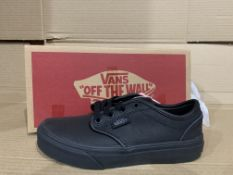 (NO VAT) 2 x NEW BOXED PAIRS OF VANS ATWOOD TRAINERS SIZE INFANT 13