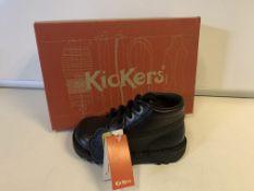 (NO VAT) 4 x NEW BOXED PAIRS OF KICKERS KICK HI I CORE BLACK SIZE INFANT 5