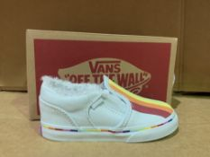 (NO VAT) 2 X BRAND NEW VANS RAINBOW TRAINERS SIZE i8