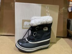 (NO VAT) 2 X BRAND NEW SOREL BLACK BOOTS SIZ Ei12