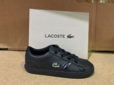 (NO VAT) 3 X BRAND NEW LACOSTE BLACK TRAINERS SIZE i9