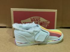 (NO VAT) 6 X BRAND NEW VANS RAINBOW TRAINER SIZE i9
