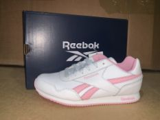 (NO VAT) 5 X BRAND NEW PINK AND WHITE REEBOK ROYAL RUNNING SHOES SIZE J4