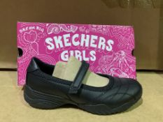 (NO VAT) 5 X BRAND NEW SKETCHERS GIRLS BLACK SHOES SIZE UK3