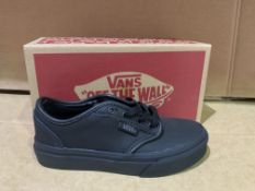 (NO VAT) 7 X BRAND NEW VANS BLACK TRAINERS SIZE i12