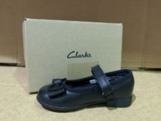 (NO VAT) 4 X BRAND NEW CLARKS SCALA TAP SHOES SIZE i7