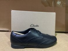 (NO VAT) 3 X BRAND NEW CLARKS SCALA LACE SHOES SIZE J3