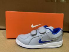 (NO VAT) 4 X BRAND NEW NIKE PICO GREY AND BLUE TRAINERS SIZE i12