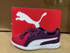 (NO VAT) 3 X BRAND NEW PUMA SOFT FOAM PINK TRAINER SIZE J5