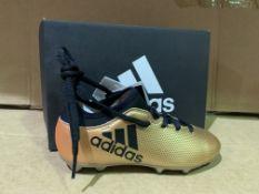 (NO VAT) 4 X BRAND NEEW ADIDAS X17.3 GOLD FOOTBALL BOOTS SIZE i12