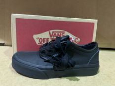 (NO VAT) 5 X BRAND NEW VANS BLACK TRAINERS SIZE i12