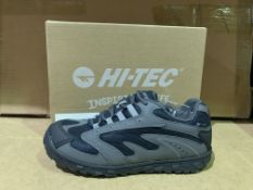 (NO VAT) 3 X BRAND NEW HI TECH NAVY TRAINERS SIZE J4