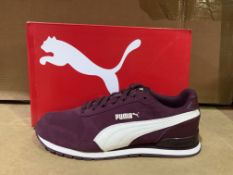 (NO VAT) 3 X BRAND NEW PUMA SOFTFOAM PURPLE TRAINERS SIZE J5
