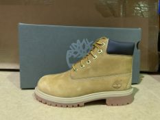 (NO VAT) 4 X BRAND NEW TIMBERLANDS WHETA YELLOW BOOTS SIZE i13