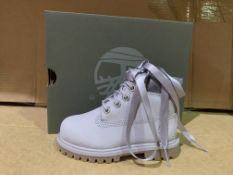 (NO VAT) 2 X BRAND NEW TIMBERLANDS LIGHT GREY NUBUCK TRAINERS SIZE I7