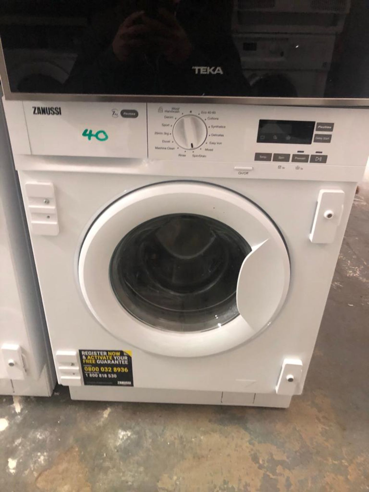 NEW/GRADED AND UNPACKAGED Zanussi Z712W43BI Integrated Washing Machine, 7kg Load (Scuffs down the