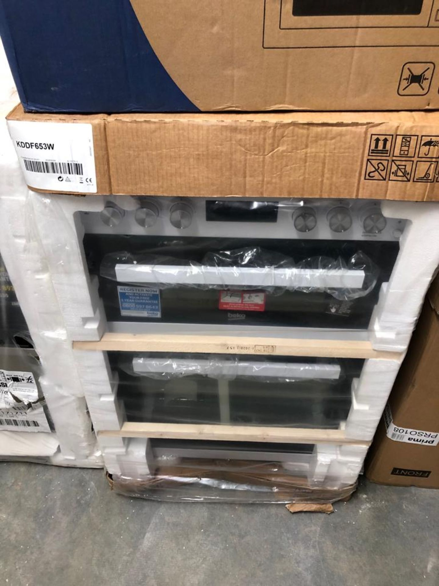 BRAND NEW PACKAGED Beko KDDF653W 60cm Dual Fuel Cooker - White