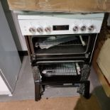 NEW/GRADED PACKAGED Beko KDDF653W 60cm Dual Fuel Cooker (Smashed outer glass top and bottom.