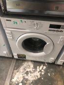 NEW/GRADED AND UNPACKAGED Zanussi Z712W43BI Integrated Washing Machine, 7kg Load(Scuffs on the lip