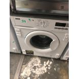 NEW/GRADED AND UNPACKAGED Zanussi Z712W43BI Integrated Washing Machine, 7kg Load(Scuffs on the lip