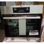 NEW/GRADED AND UNPACKAGED AEG, BEB231011M, Built In Single Oven (Slight damage to rear case)