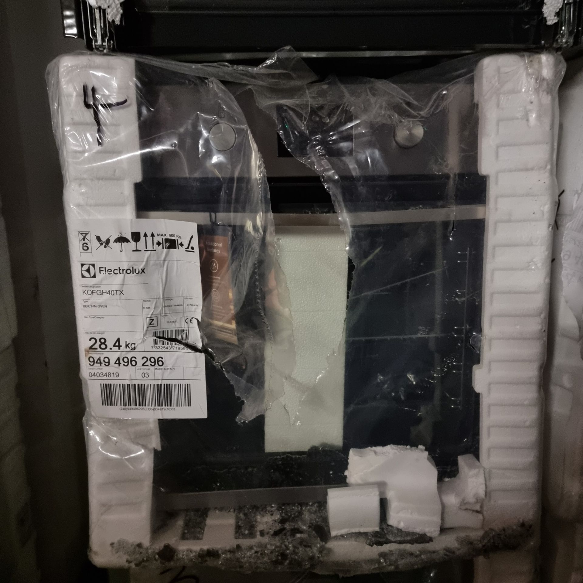 NEW/GRADED PACKAGED Electrolux KOFGH40TX Single Electric Oven (Smashed outer glass and slight handle