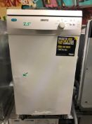 NEW/GRADED AND UNPACKAGED Zanussi ZDS12002WA Freestanding Slimline Dishwasher (Dent in front)