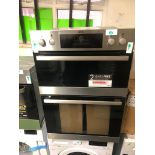 NEW/GRADED AND UNPACKAGED AEG DEB331010M Electric Double Oven (Dent to top of oven)