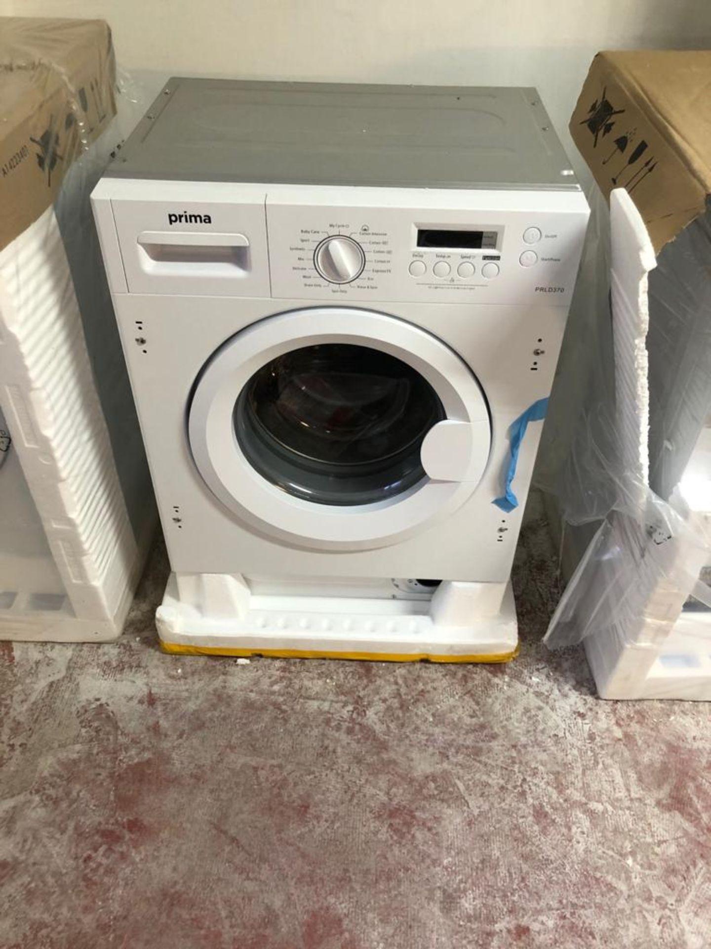 BRAND NEW UNPACKAGED Prima 7Kg Fully Integrated Washing Machine PRLD370 - White