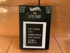 8 X BRAND NEW A5 SIGNOGRAPHY PEG LETTER BOARDS (224/30)