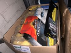 25 PIECE MIXED LOT INCLUDING SPONGES, POLISHING CLOTH, WATER BLADE SQUEEGEES ETC (275/30)