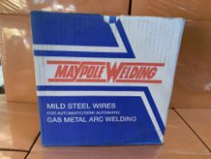 4 X MAYPOLE MILD STEEL WIRES FOR GAS METAL ARC WELDING (252/30)