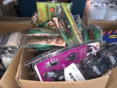 50 PIECE MIXED LOT INCLUDING TIE DOWNS, SUN SHADES, CAR CHARGERS, ETC (272/30)