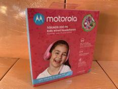 9 X BRAND NEW MOTOROLA AQUADS 200PK KIDS WIRED HEADPHONES (280/30)