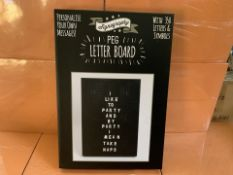 11 X BRAND NEW LARGE SIGNOGRAPHY PEG LETTER BOARDS (223/30)