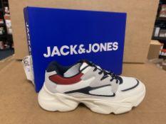 (NO VAT) 3 X BRAND NEW CHILDRENS JACK JONES WHITE TRAINERS SIZE 2 (16/30)