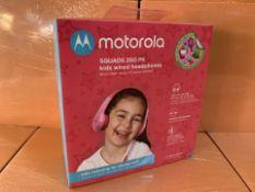 9 X BRAND NEW MOTOROLA AQUADS 200PK KIDS WIRED HEADPHONES (279/30)