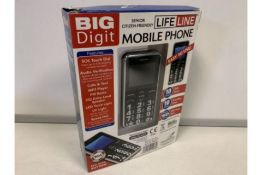 NEW BOXED BIG DIGET MOBILE PHONE. RRP £49.99 EACH (533/28)