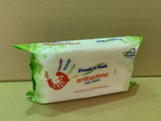 24 X BRAND NEW PACKS OF FRESH AND SOFT ANTIBACTERIAL WET WIPES (120/26)