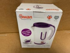 1 X NEW & BOXED SWAN TRAVEL KETTLE (51/28)