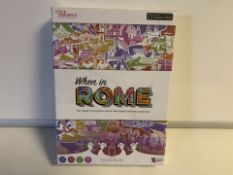 10 X BRAND NEW WHEN IN ROME THE TRAVEL TRIVIA GAME WHERE REAL PEOPLE ASK THE QUESTIONS (81/26)